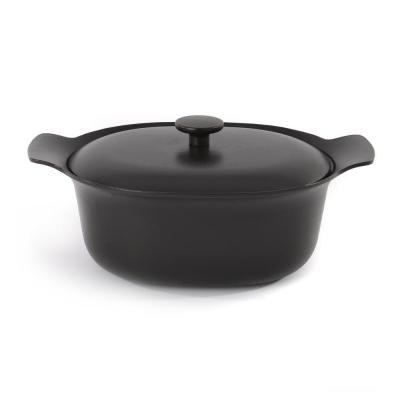 Ron 5.5 Qt. Cast Iron Casserole Dish with Lid