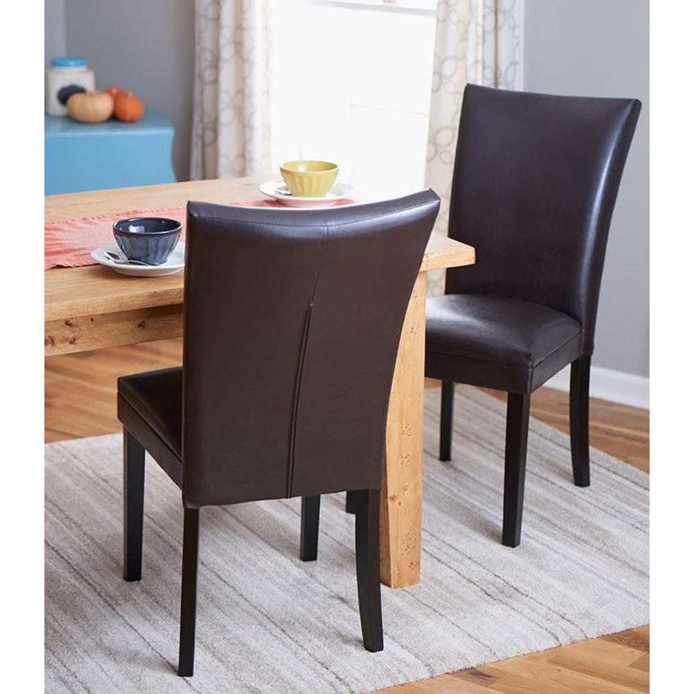 Home Decorators Collection Dark Brown Parsons Dining Chair Set Of 2