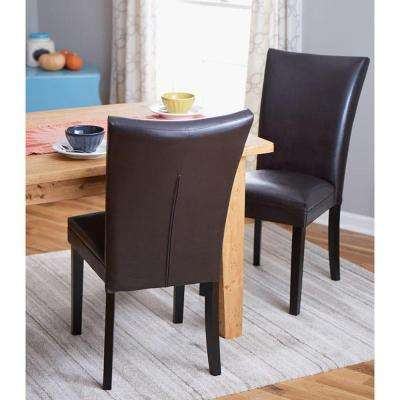 Dark Brown Parsons Dining Chair (Set of 2)