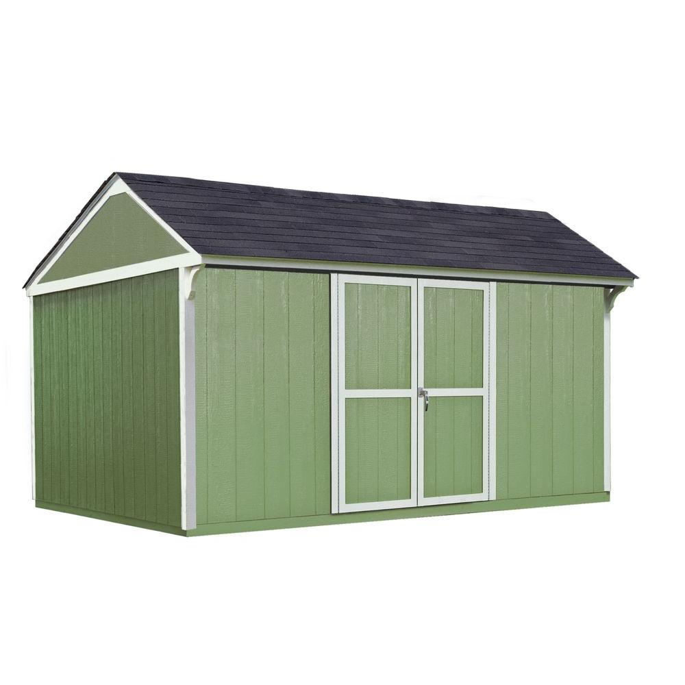 Handy Home Products Lexington 12 ft. x 10 ft. Wood Storage Shed with Floor