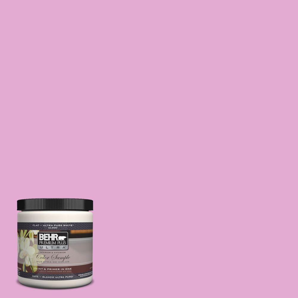 BEHR Premium Plus Ultra 8 oz. #680A-3 Pink Bliss Matte Interior ...