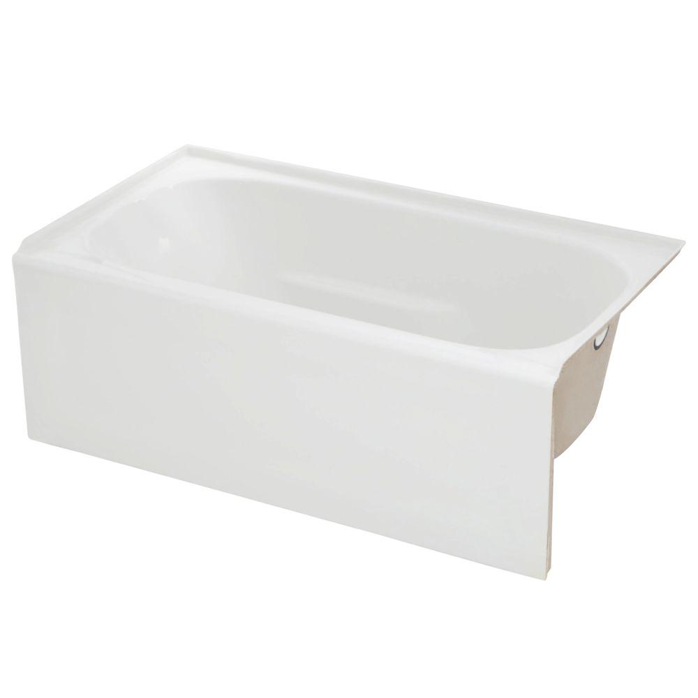 Lyons Industries Elite 4.5 ft. Right Drain Soaking Tub in White
