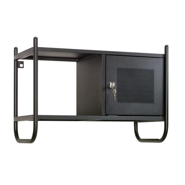 HomeVisions Black Metal Wall Cabinet