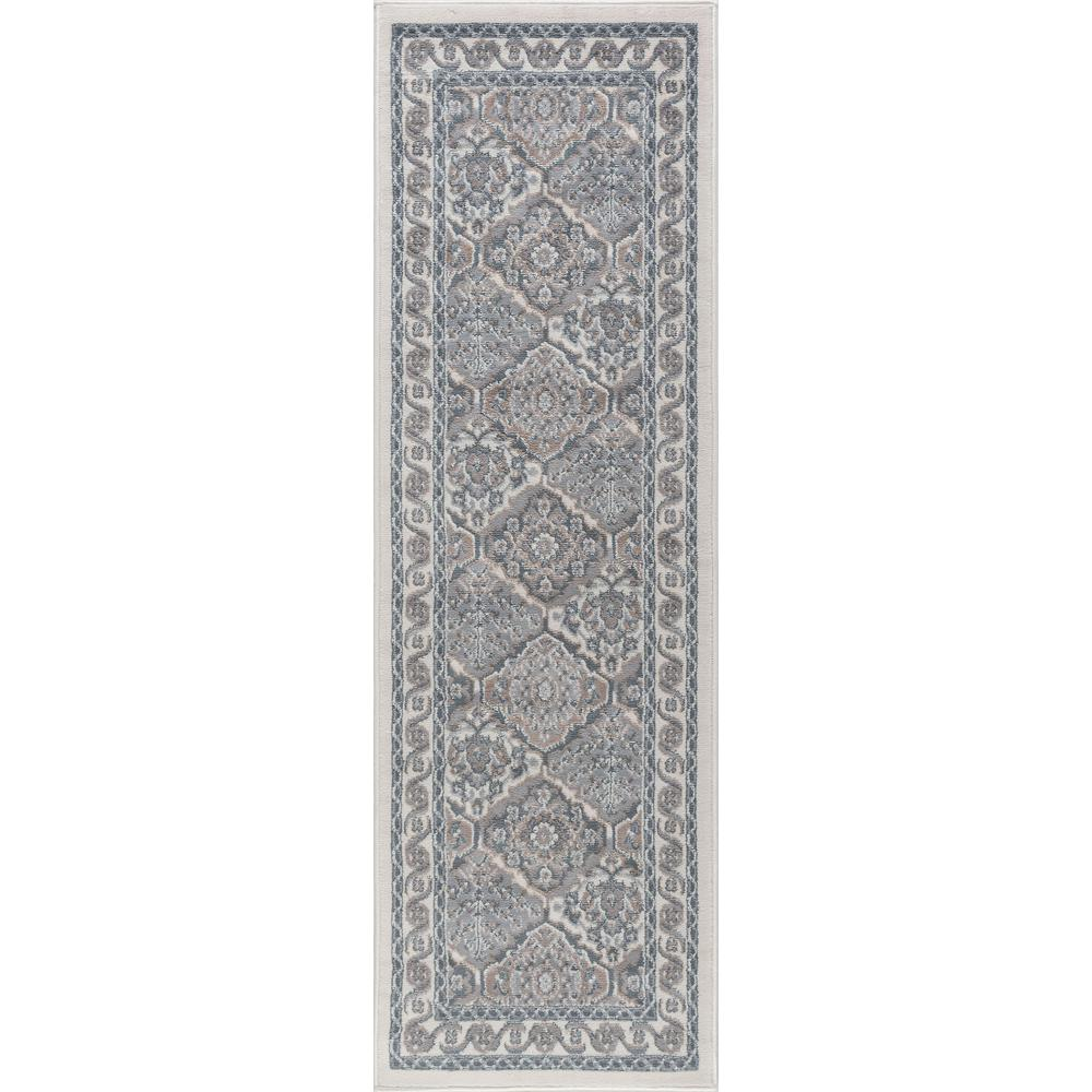 Hampton Traditional Cream 2 ft. x 10 ft. Runner Rug