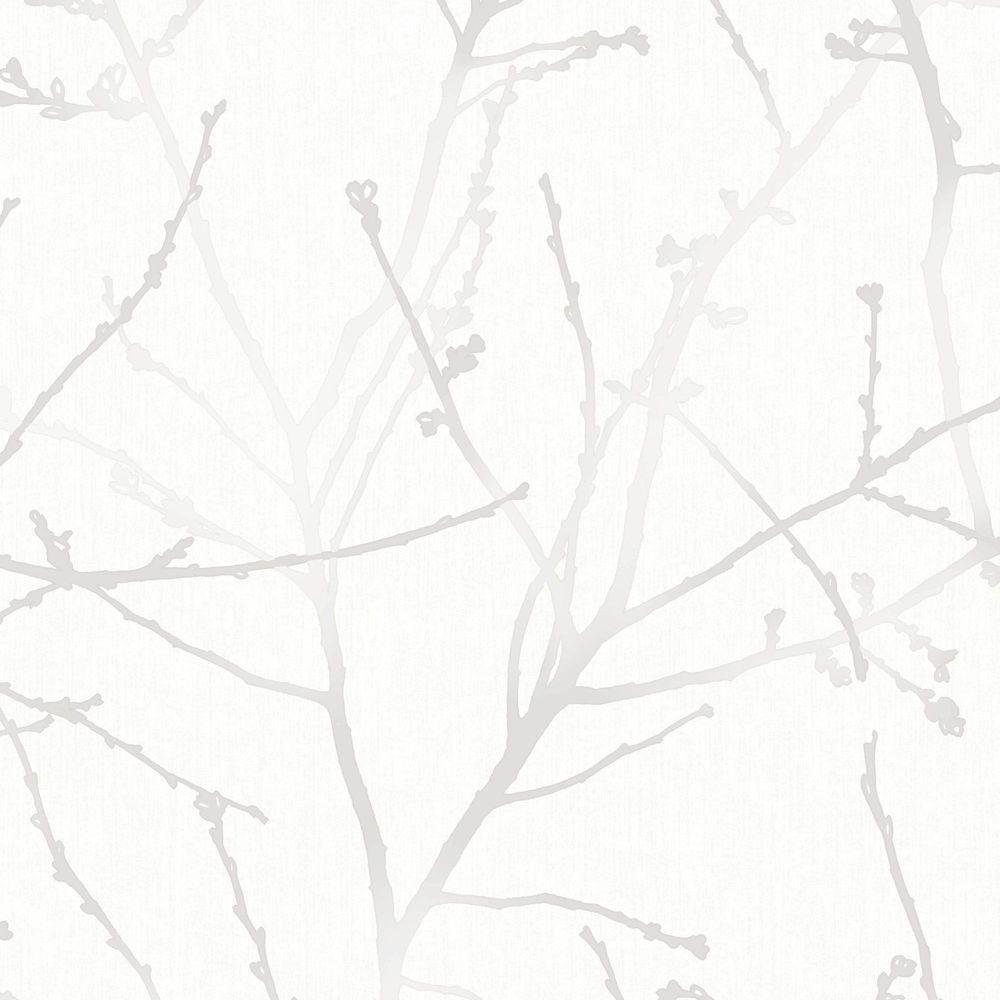 Innocence White Mica Vinyl Strippable Wallpaper (Covers 56 sq. ft.)