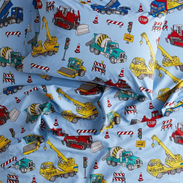 Company Kids by The Company Store Construction Trucks 3-Piece 200-Thread Count