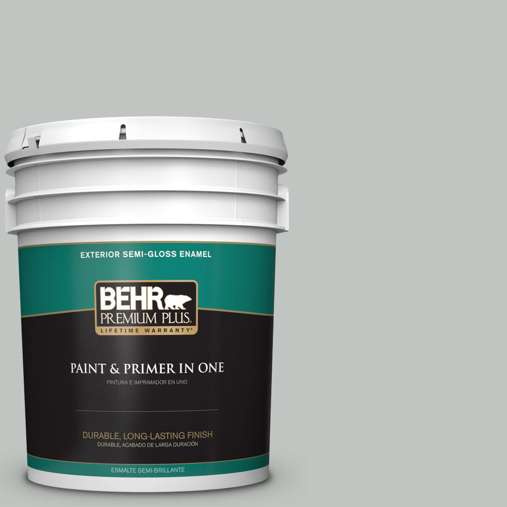 5 gal. #PPU25-14 Engagement Silver Semi-Gloss Enamel Exterior Paint
