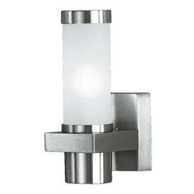 Konya 1-Light Matte Nickel Outdoor Wall Light