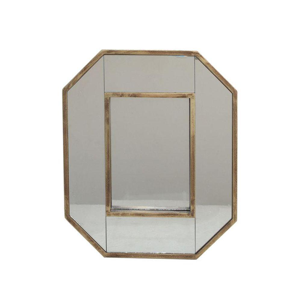 Home Decorators Collection 14 in. H x 12 in. W Owen Gold Framed Wall Mirror