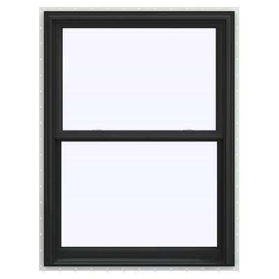 36 in. x 48 in. V-2500 Series Bronze FiniShield Vinyl Double Hung Window with BetterVue Mesh Screen