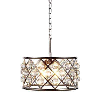 Madison 4-Light Polished Nickel Royal Cut Crystal Clear Pendant