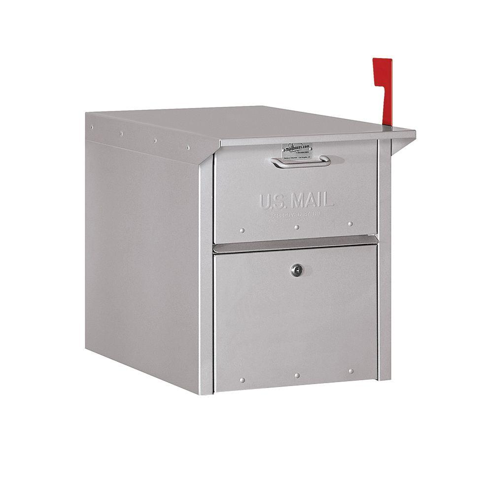 Salsbury Industries 4300 Series Mail Chest in Silver, Grays