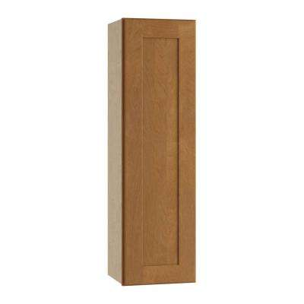 Hargrove Assembled 15x36x12 in. Single Door Hinge Left Wall Kitchen Cabinet in Cinnamon