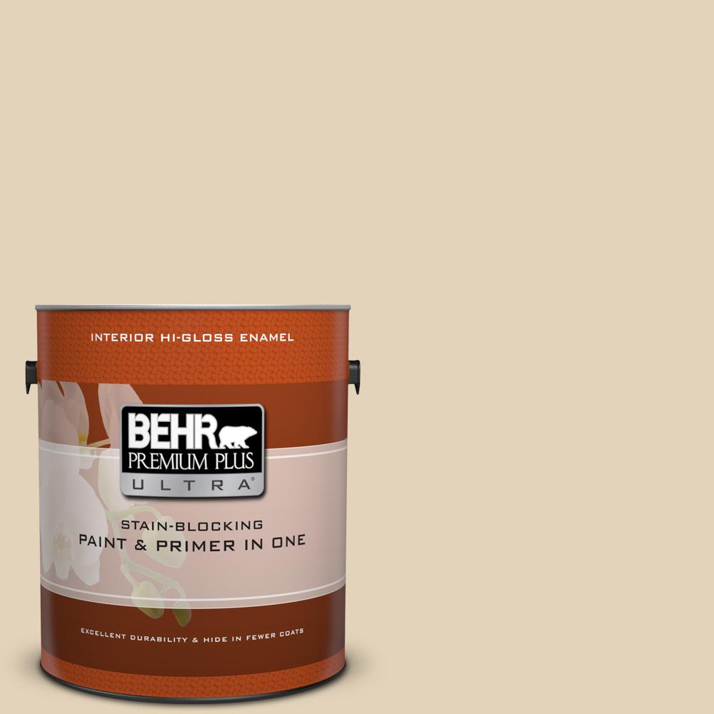 Bxc 50 Stucco White Hi Gloss Enamel Interior Paint And Primer In One