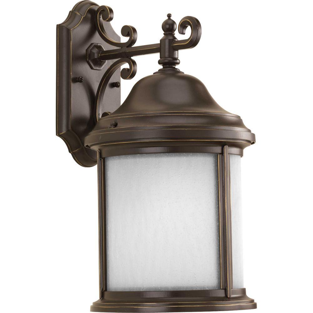 Ashmore 1-Light Antique Bronze Outdoor Wall Lantern Sconce