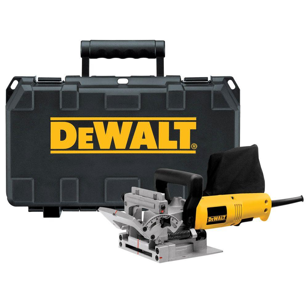 dewalt 6 5 amp heavy duty plate joiner kit dw682k the home depot rh homedepot com Biscuit Joiner Adapter De Walt Biscuit Joiner