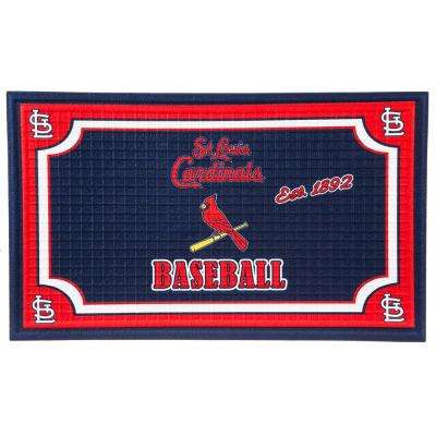 St Louis Cardinals 18 in. x 30 in. Embossed Welcome Mat