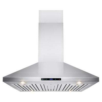 36 in. Convertible Kitchen Island Mount Range Hood in Stainless Steel with Touch Control
