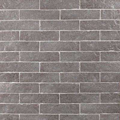 Weston Temp Dark Gray 2 in. x 8 in. 14mm Glazed Clay Subway Wall Tile (40-piece 4.78 sq. ft. / box)