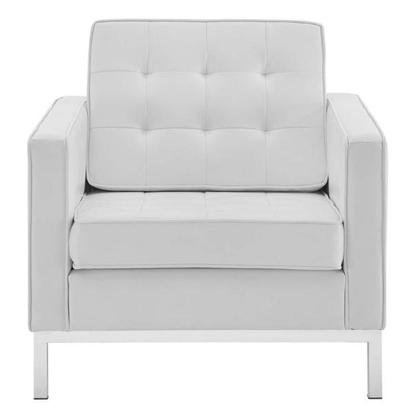 Modway Loft Silver White Tufted On