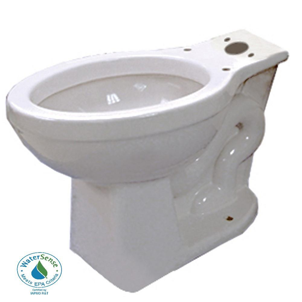 Round Toilet Bowl Only in White with 12 in. Rough-In-N2412RB - The ...