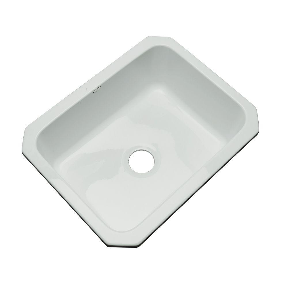 Thermocast Inverness Undermount Acrylic 25 in. Single Bowl Kitchen Sink in Sterling Silver