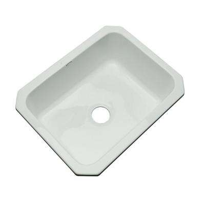 Inverness Undermount Acrylic 25 in. Single Bowl Kitchen Sink in Sterling Silver