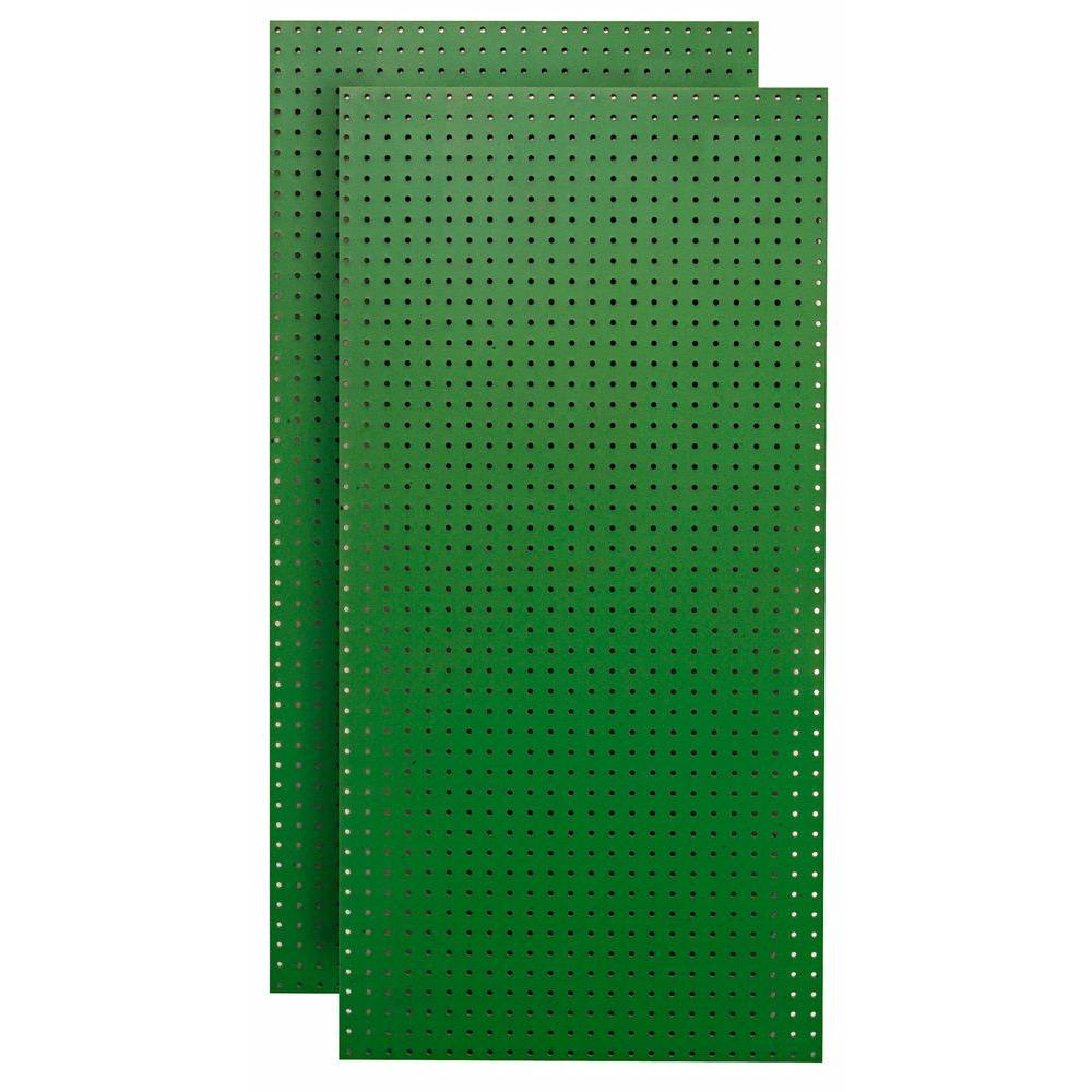 1/4 in. Custom Painted Green Pegboard Wall Organizer (Set of 2)