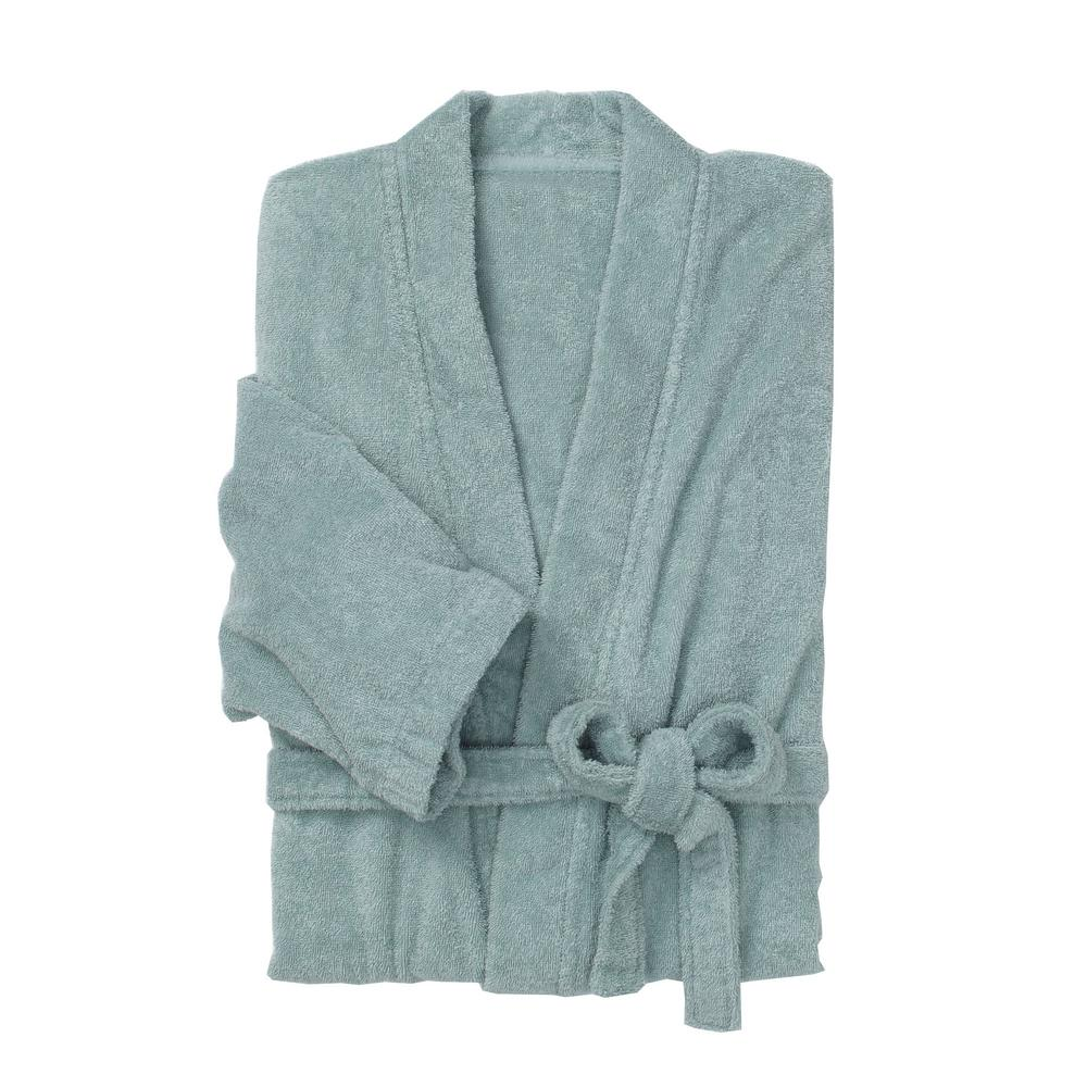 The Company Store Regal Egyptian Cotton Large Extra Large Spa Green Bath  Robe-RK15-LXL-SPA-GREEN - The Home Depot bc95be5e4