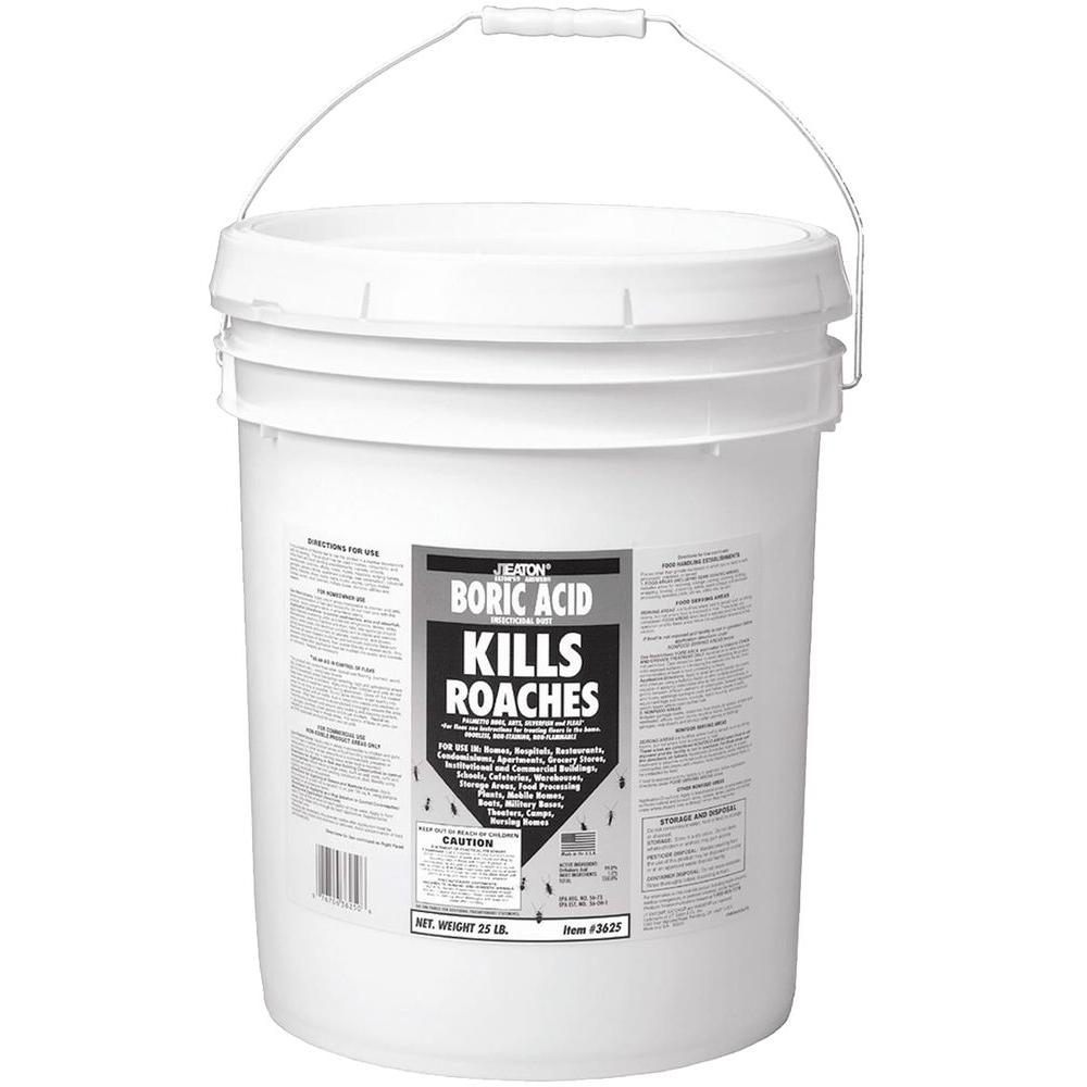 Jt Eaton 25 Lb Boric Acid Insecticidal Dust In Resealable Pail 3625 The Home Depot
