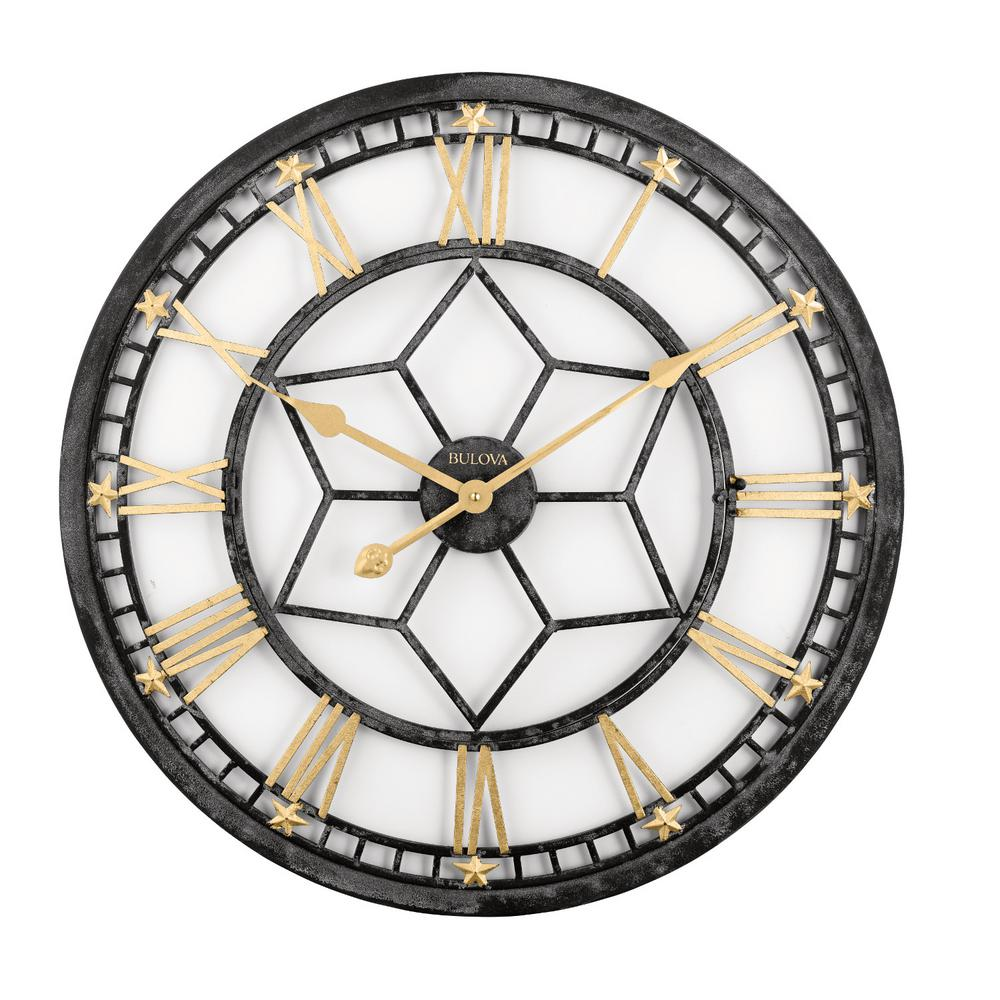 24 in. H x 24 in. W Round Wall Clock with