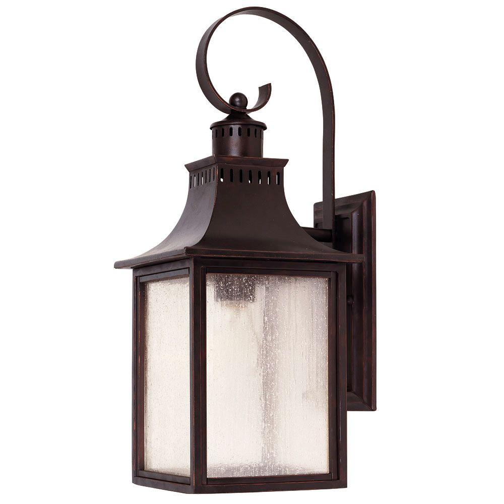 Illumine 1 Light Wall Mount Lantern English Bronze Finish