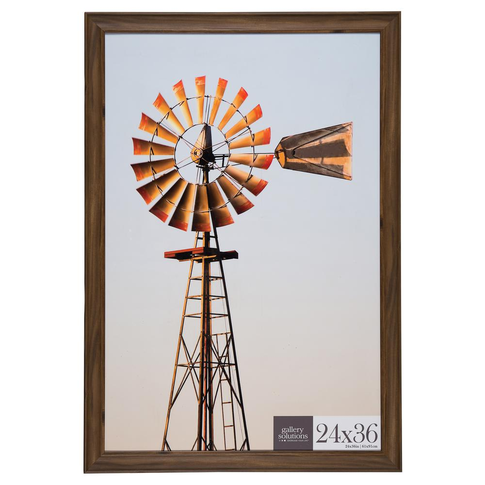 Pinnacle 24 in. x 36 in. Brown Poster Picture Frame-16FP2211 - The ...