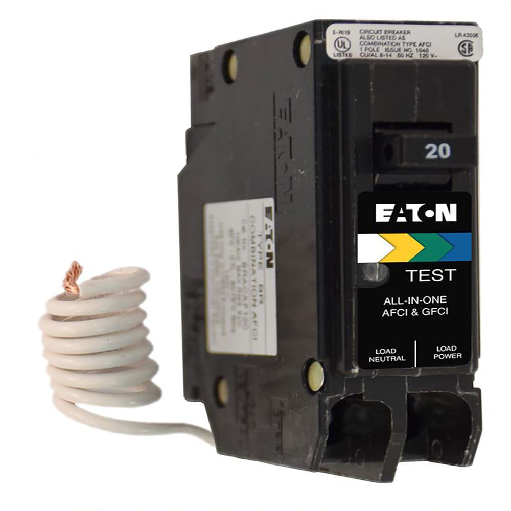 BR 20 Amp All in One AF/GF Breaker