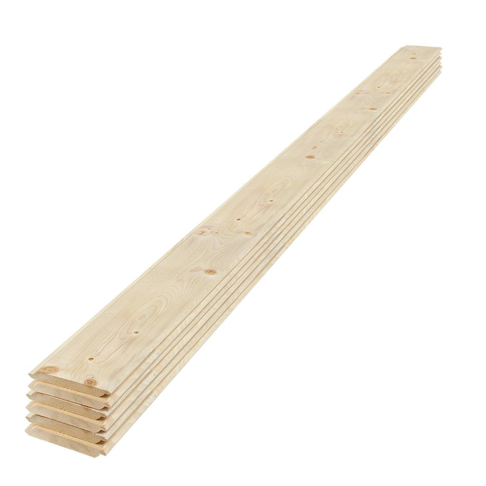 UFP-Edge 1 in. x 6 in. x 8 ft. Eased Edge Pine Shiplap Board (6-Pack ...