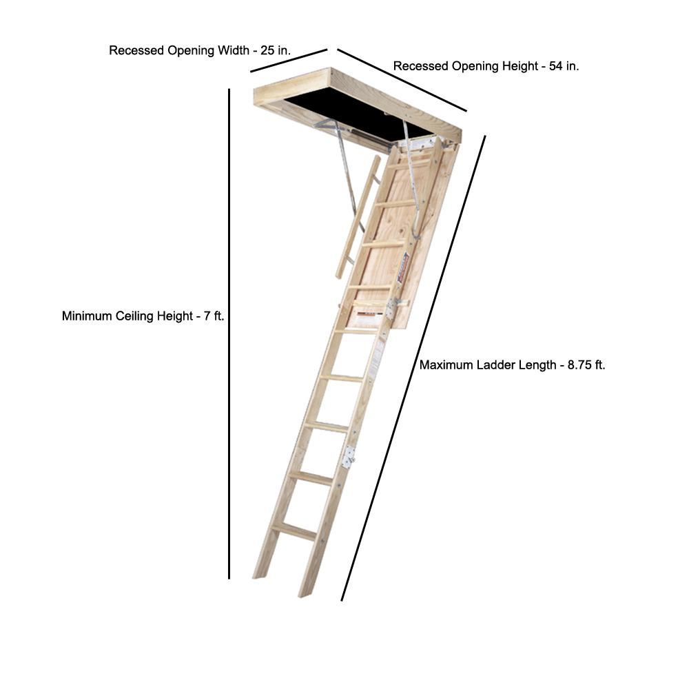 Werner Attic Stairs Installation Instructions Image
