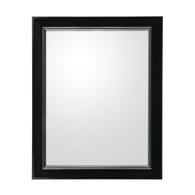 Montecito 24 in. W x 30 in. H Wall Mirror in Black