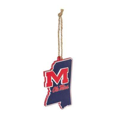 Ole Miss 5 in. NCAA Team State Christmas Ornament