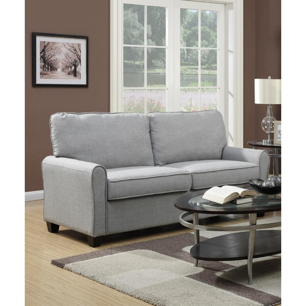 Dennison Gray Polyester Sofa