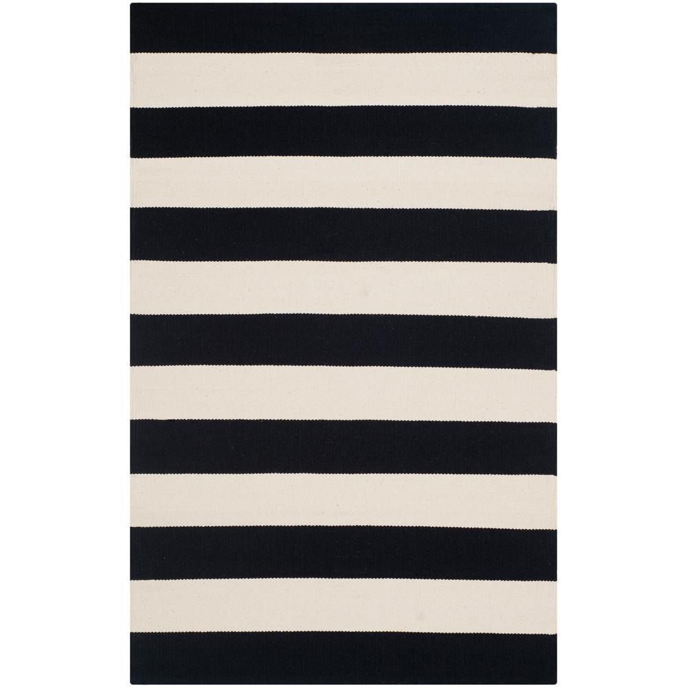 Montauk Black/Ivory 3 ft. x 4 ft. Area Rug