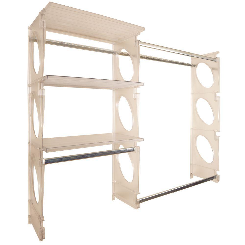 Urban Intermediate 4 ft. to 5 ft. Frost Closet Shelving Kit