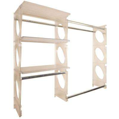 Urban Intermediate 4 ft. to 5 ft. Frost Closet Shelving Kit