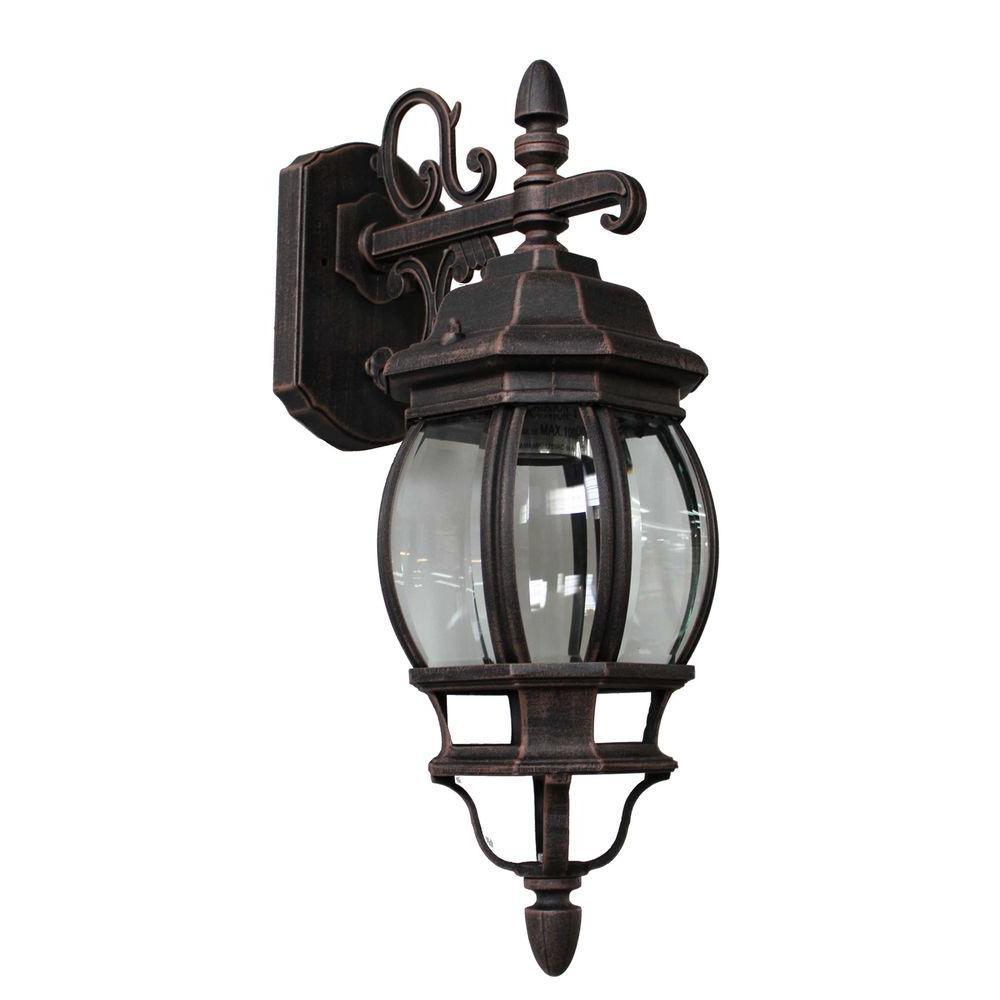 Filament Design Sergej 1-Light Rust Outdoor Wall Lantern-CLI ...