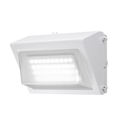 High-Output 450-Watt Equivalent White Integrated Outdoor LED Wall Pack, 6800 Lumens, Dusk to Dawn Outdoor Security Light