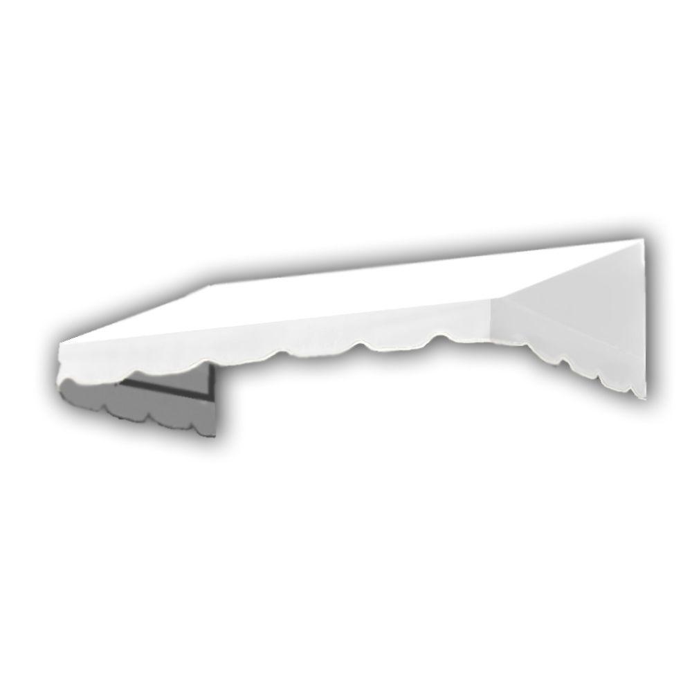 AWNTECH 14 ft. San Francisco Window/Entry Awning (24 in. H x 42 in. D) in OffinWhite