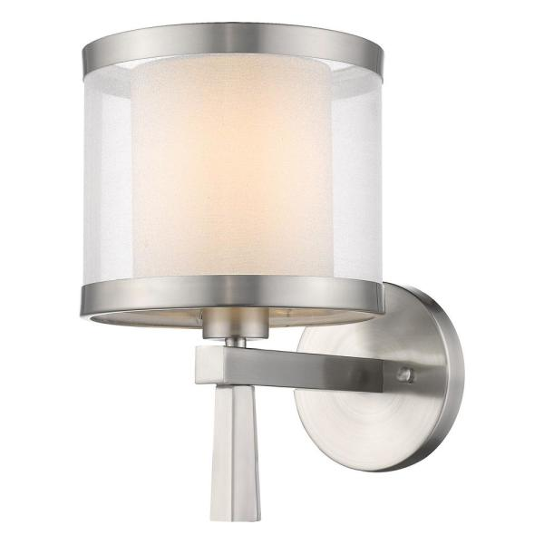 Lux 1 Light Brushed Nickel Wall Sconce