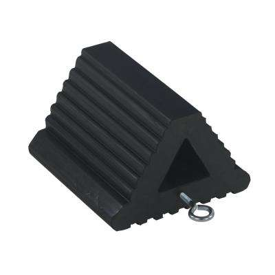 8.5 in. x 8.5 in. x 6 in. Extruded Rubber Wheel Chock