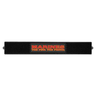 3.25 in. x 24 in. Black U.S. Marines Drink Mat