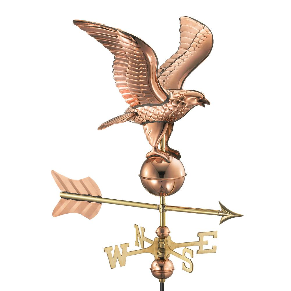 Good Directions Eagle Garden Weathervane   Pure Copper With Garden Pole