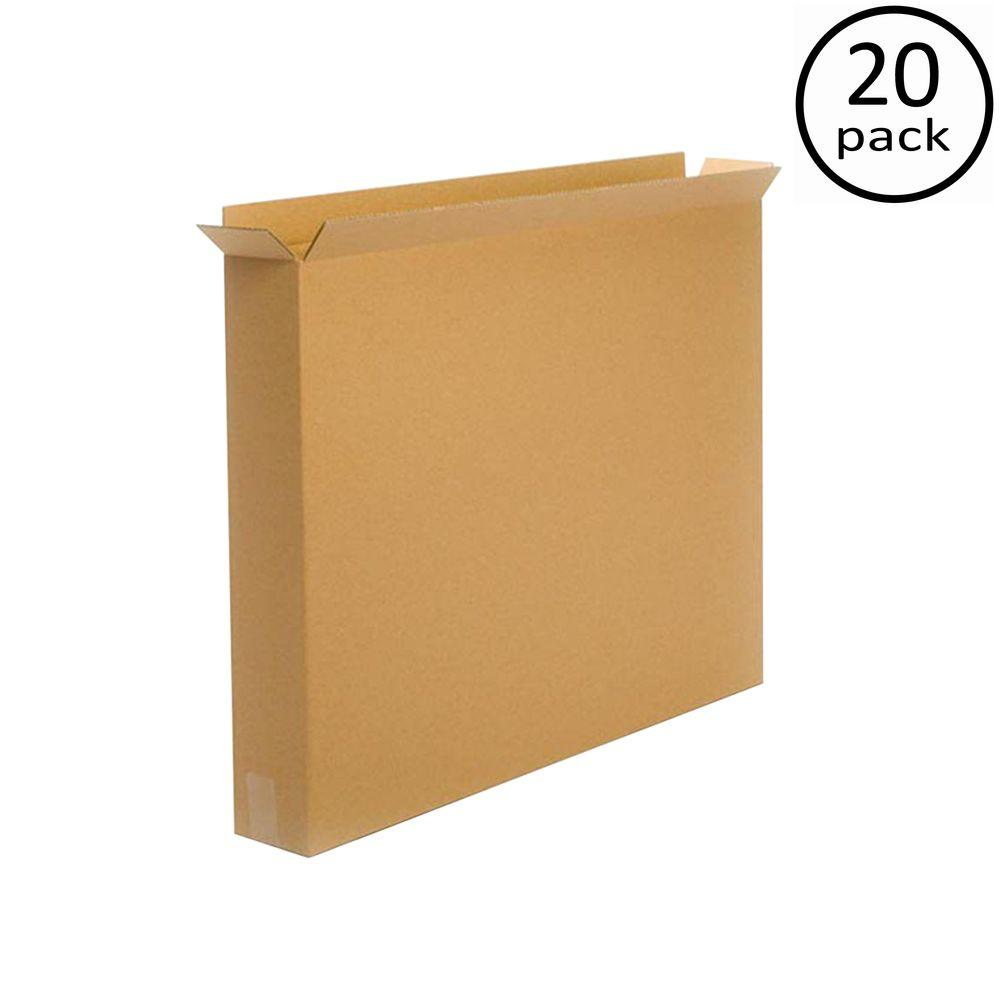Plain Brown Box 36 in. x 5 in. x 30 in. 20 Moving Box Bundle